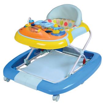 Best selling musical toys japanese rubber wheels inflatable big baby walker