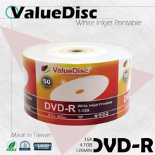 Best Selling DVD-R Printable Value Disc From America Excellent Quality
