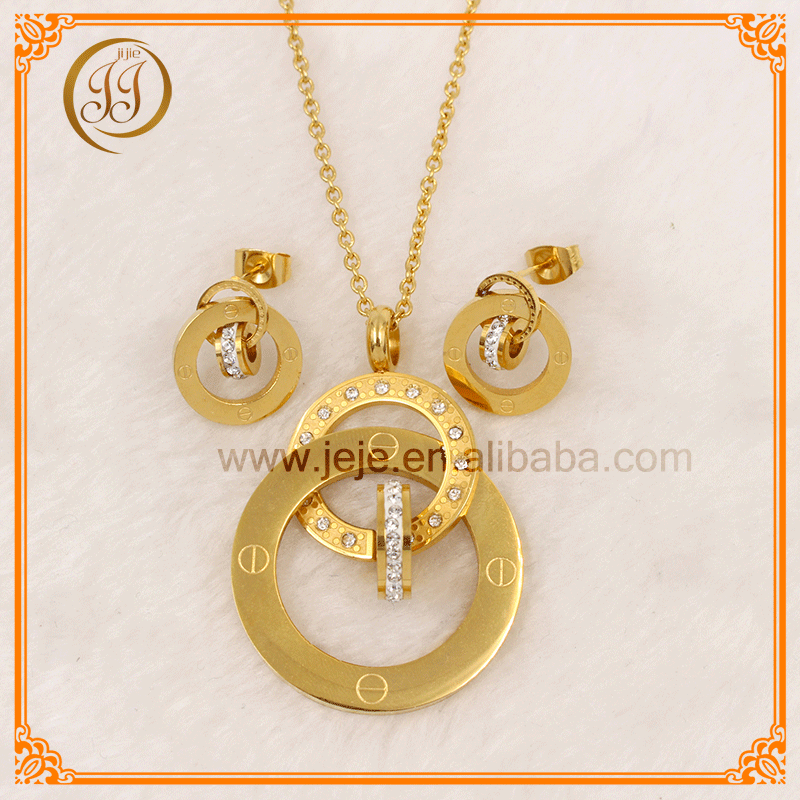 Rings Design Pendant Set Cheap Hot Trendy 2017 Jewellery With Crystal