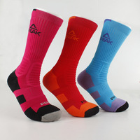 PEAK Men Basketball long Socks Sport Socks 9 Colors W14909 Free Shipping