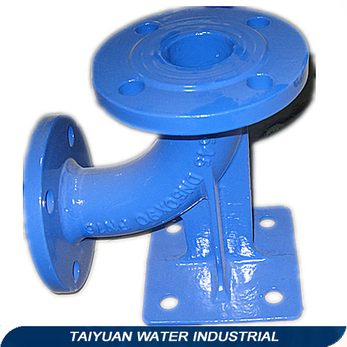 Ductile iron double flanged duckfoot bend/elbow