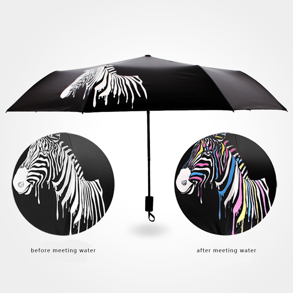 Magic Umbrella Color Changing Umbrella after getting Wet
