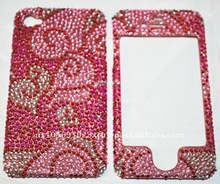 red crystal bling cover case for iphone 4