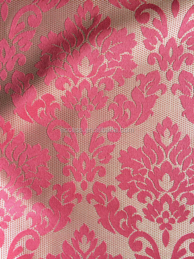 polyester jacquard fabric for curtain and drapery upholstery