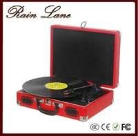 Rain Lane Colourful Suitcase Full Stereo Speakers Portable Sound Design Record Player