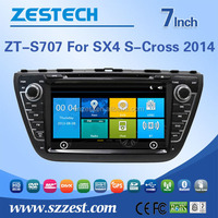 Hot selling 7 inch 2 din car dvd player for Suzuki SX4/S-cross 2013-2014 car dvd gps with car dvd audio GPS DVD USB/SD AM/FM