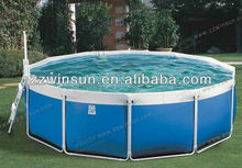 Above ground fascinating frame rectangle swimming pool with complete spare parts by Winsun