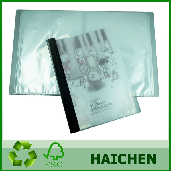 a4 20 pockets clear book display book/pp display book