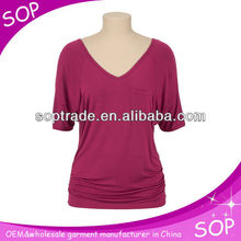 Fashion latest three quarter length sleeve clothing manufacturers overseas