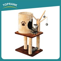 TOPRANK Simple Cheap New Design Corrugated Sale Pets Scratcher For Cats Pet Scratcher House