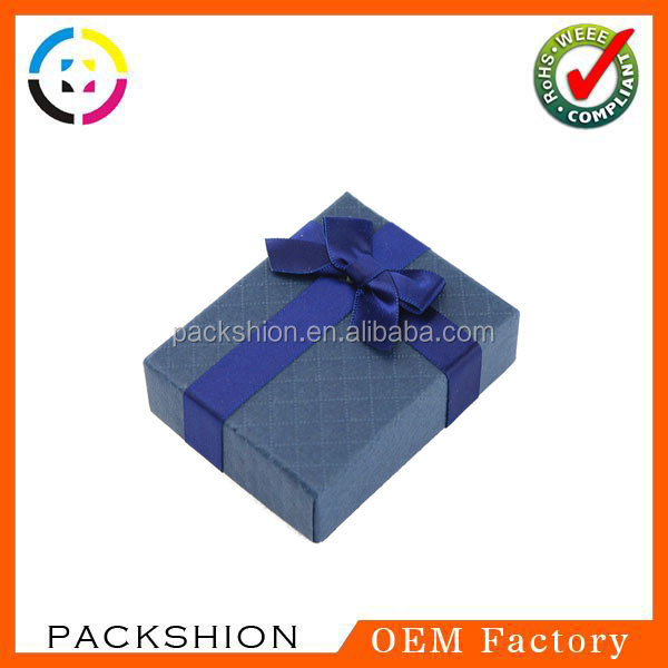 Custom Luxury Jewelry Packaging Box with Ribbon Decoration