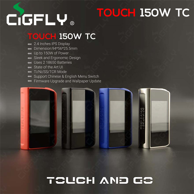 2016 Newest products tesla touch 150w box mod hot selling tesla touch 150w TC mod for wholesale