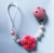 silicone beads with pink flower baby pacifier clip