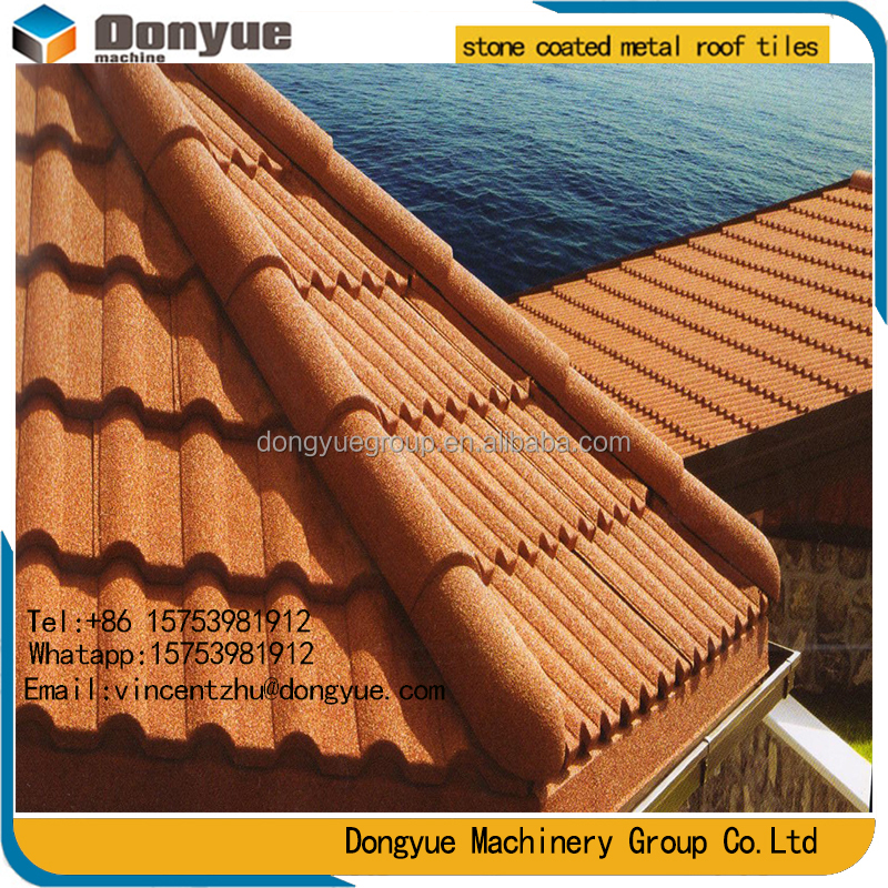 2017 New design shingles solar colored stone metal roof tile wholesale online