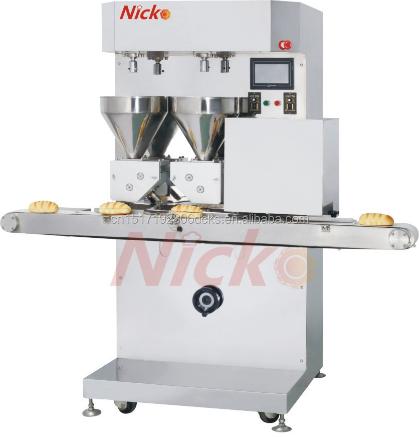 Bread cutting and filling machine for bakery bread slicer