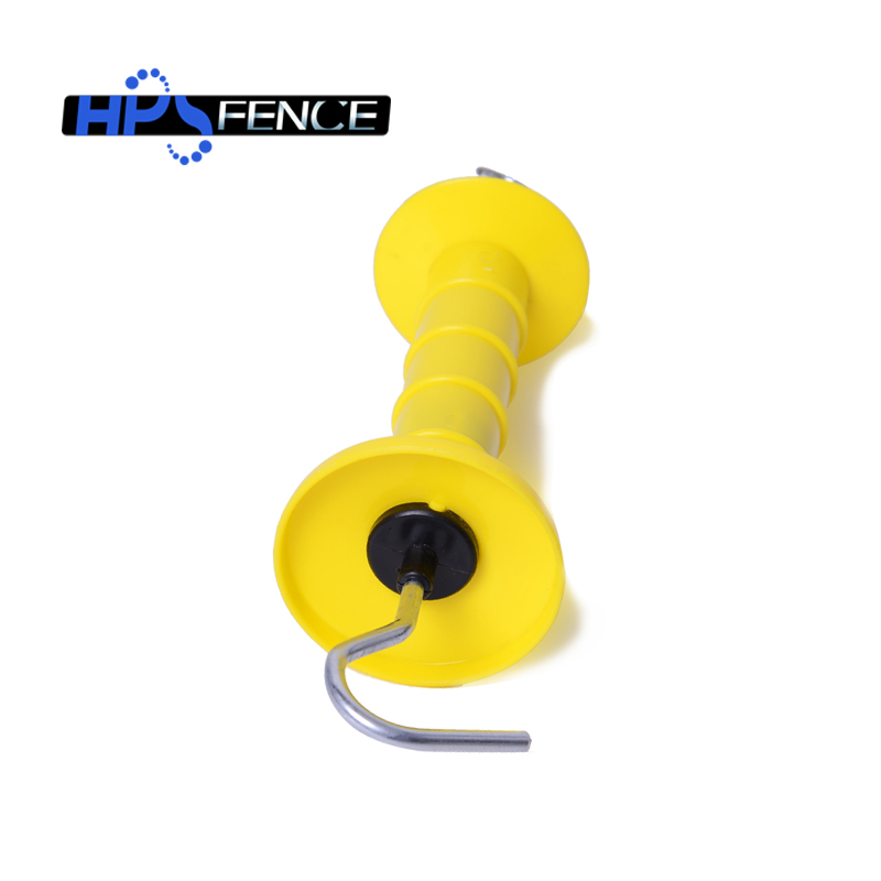 For Electric Fence Yellow Plastic Arch Hook Gate Handle For Animal Fencing