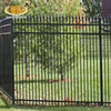 Black powder caoted security Square tube garden fence