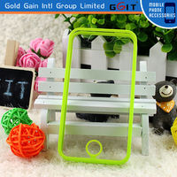 Plastic bumper case with clear hard back case for iPhone 4G&4S