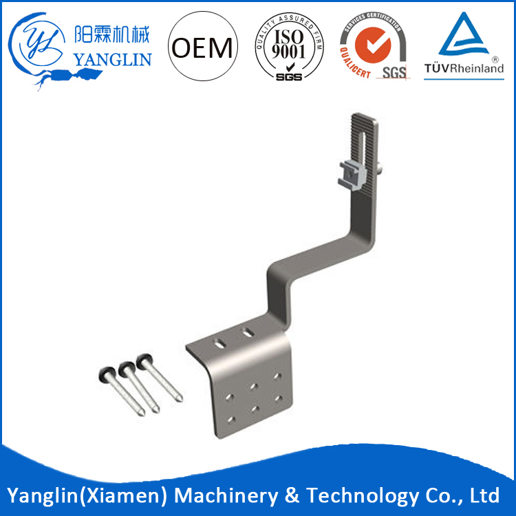 Factory price of solar panel mounting bracket roof hook kit