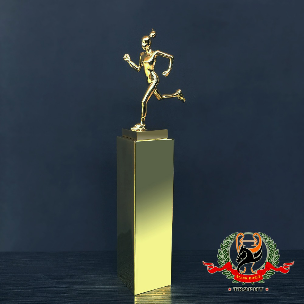 customized metal running figure trophy