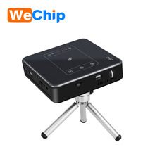 Factory direct price Newest Brand C9 DLP Android 7.1 2g/16g intelligent projector home office portable projector