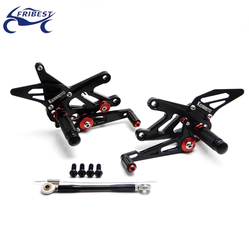 Adjustable Rearset Motorcycle Foot Controls cnc parts Fit for Aprilia RSV4(R/FACTORY)APRC ABS 2013-2015 FARAP002-BBK