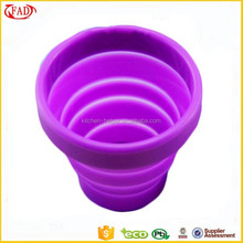 Alibaba Hot Selling Durable Travel Item Silicone Tea Cup