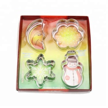 Free delivery 10 대 크리스마스 4 개 set stainless steel cookie cutter