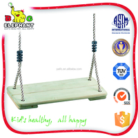 Product quality protection wooden outdoor basket swing baby