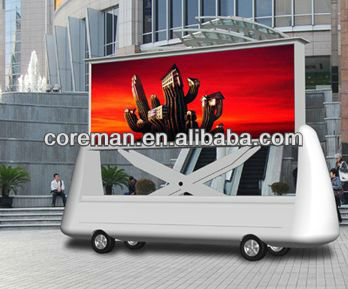 new idea outdoor advertising products mobile/flexible/ mobile trailer led display screen