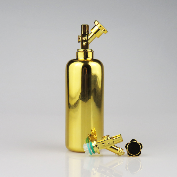 New products 60ml electroplating gold silver color e liquid nos bottle to wholesale