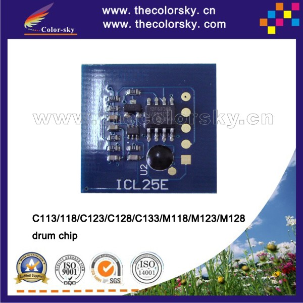 (TY-X123D) reset drum unit chip for xerox WorkCentre wc C113 <strong>C118</strong> C123 C128 C133 M118 M123 M128 bk 60k pages