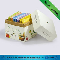 Cardboard tea sachet paper packaging box with lid