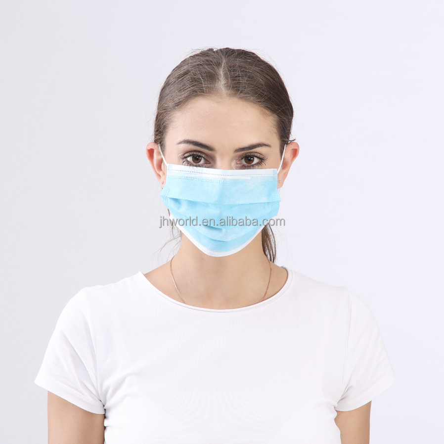 3 ply surgical non woven disposable face mask with high quality