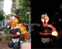 Accept customized size thanksgiving inflatable turkey for festival decoration