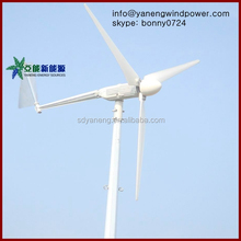 Horizontal axis wind generator rated power 3kw /max power 4kw wind turbine price