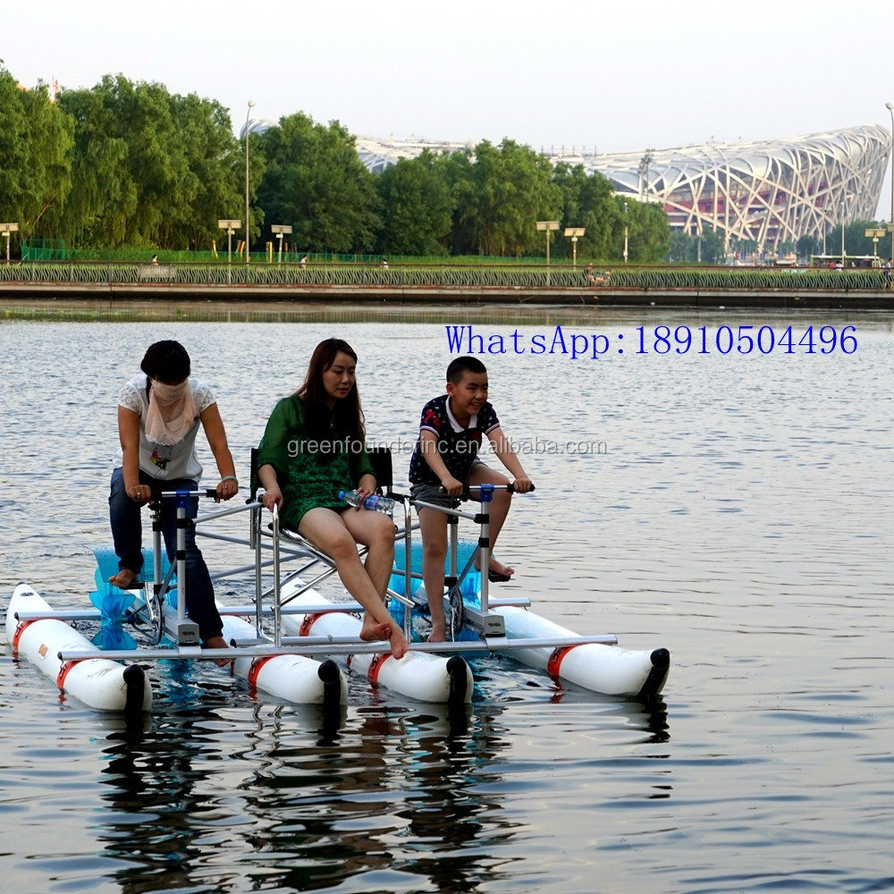 Water Sports Supply Amusement Park Aluminum Frame Adult Water Tricycle water ticycle for sale