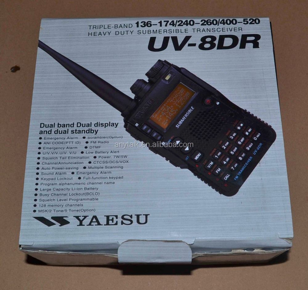 Newest UV-8DR 136-174/240-260/400-520MHz yaesu triple band ham radio