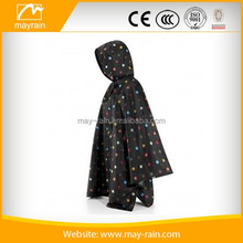 nylon polyester fashion rain poncho for ladies