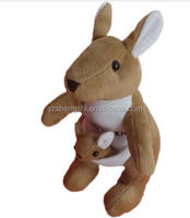 ICTI china factory wholesale Australia inflatable kangaroo skin meat plush stuffed toys for kids 2018