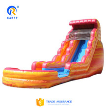 CE approved PVC tarpaulin giant inflatable water slide,commercial inflatable water slides for kids and adult