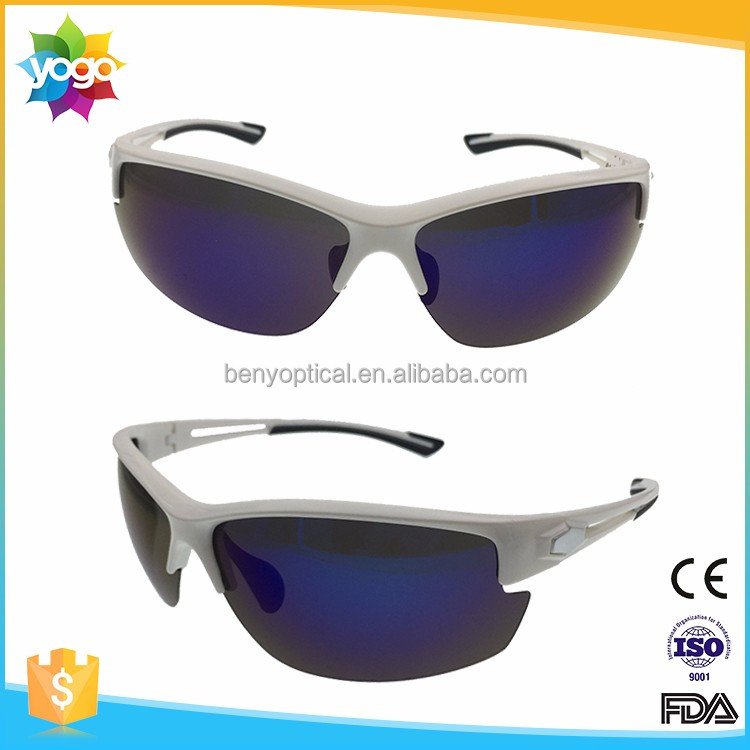 2016 Wholesale Biking Sport Revo Lens Polarized Sunglasses with Rubber Temple Tip