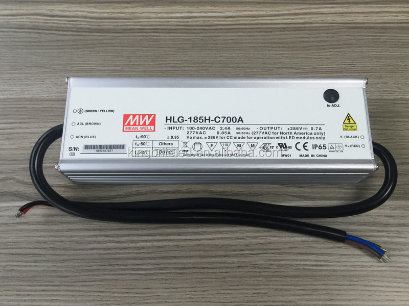 HLG-185H-C700A Meanwell power supply, 700mA, 200W, HLG-185H-C700, HLG-185H-C700A, HLG-185H-C700B