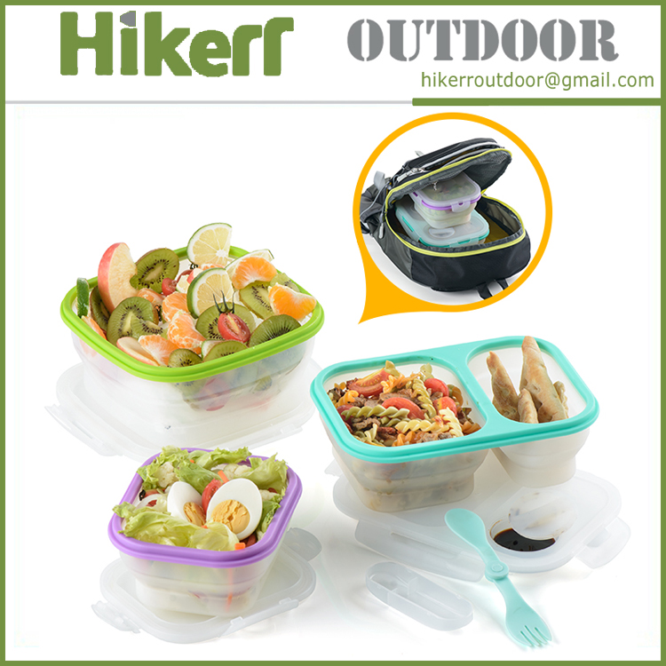 Naturehike portable preserving box camping collapsible PP meal box folding plastic lunch box