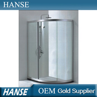 HS-SR825 curved glass delicacy corner glass shower enclosures
