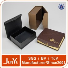 luxury book shape wine glass cup box with magnetic lid