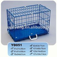 2016 new blue folding metal dog cage crate with metal tray US market