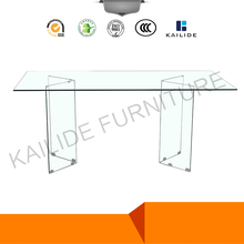 Luxury Glass Top Conference Table for Office Desk With Temper Glass