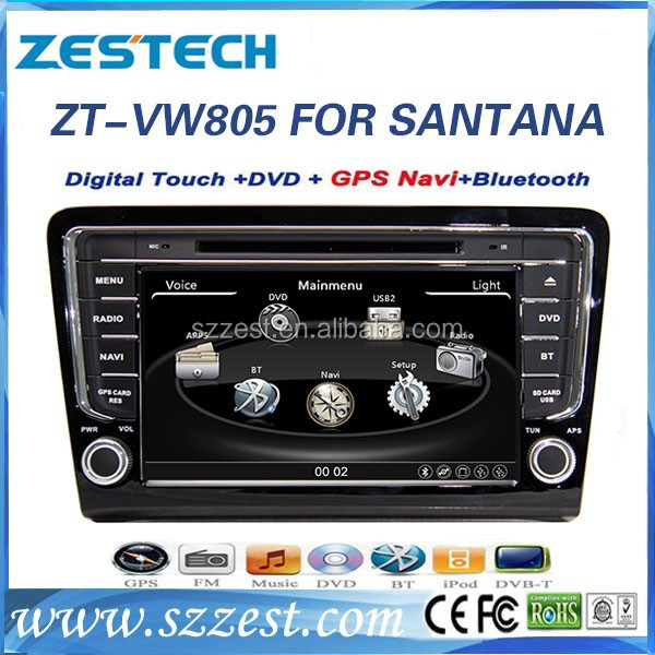 ZESTECH central multimedia car dvd player for VW Bora Santana 2013 with touch screen gps autoradio