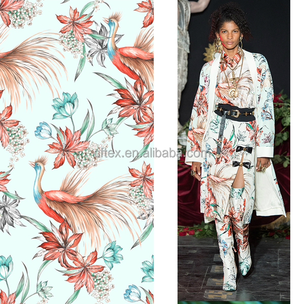 2017 Lastest Pattern for Digital Printing on Poly Cotton Rayon or Silk Fabric